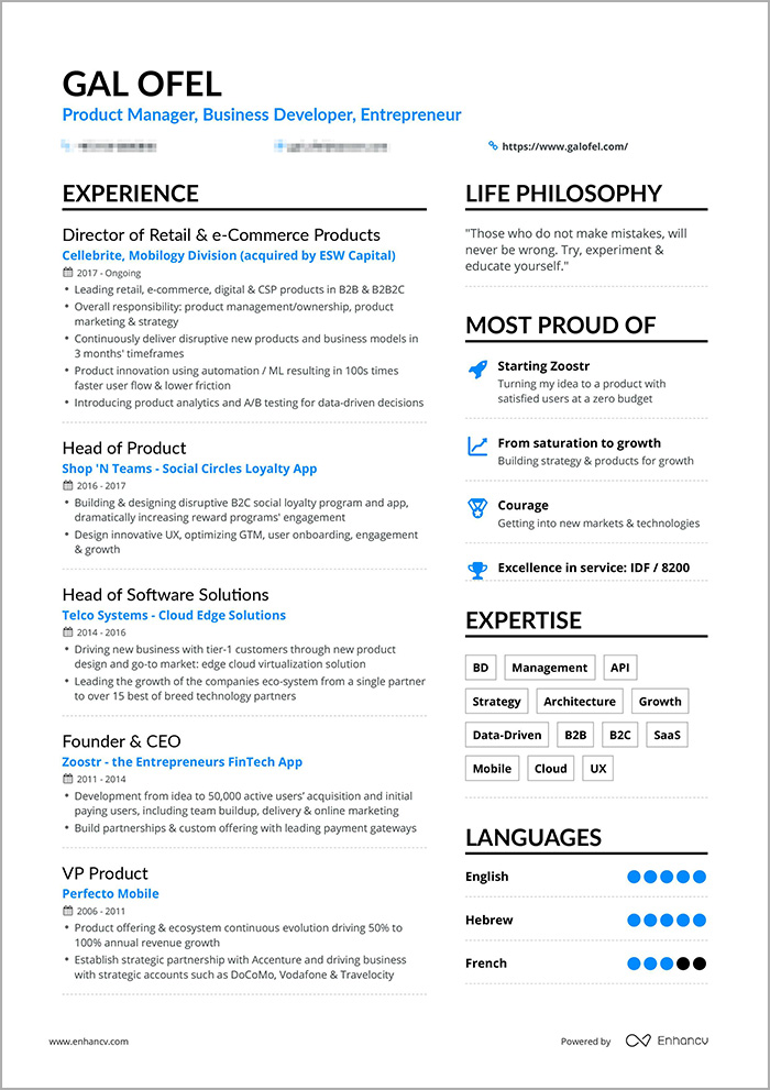 Enhancv Is Your Manager Resume Worthy of the Job? Manager Resume