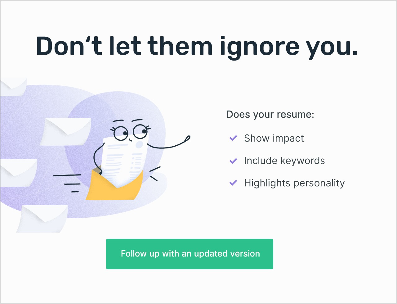 Enhancv Follow-up emails that will get you hired