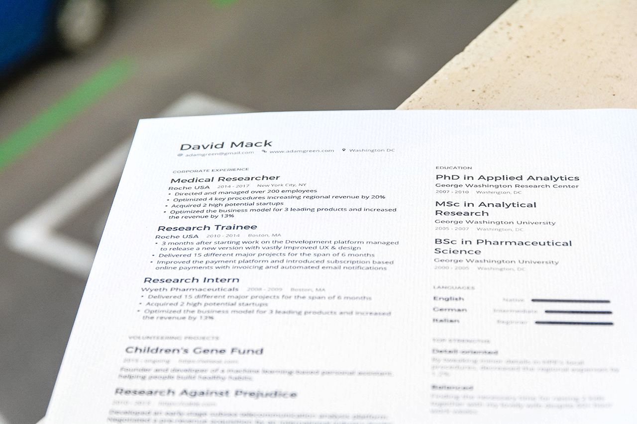 Enhancv The Influence of Resume Paper in Getting a Job Resume paper