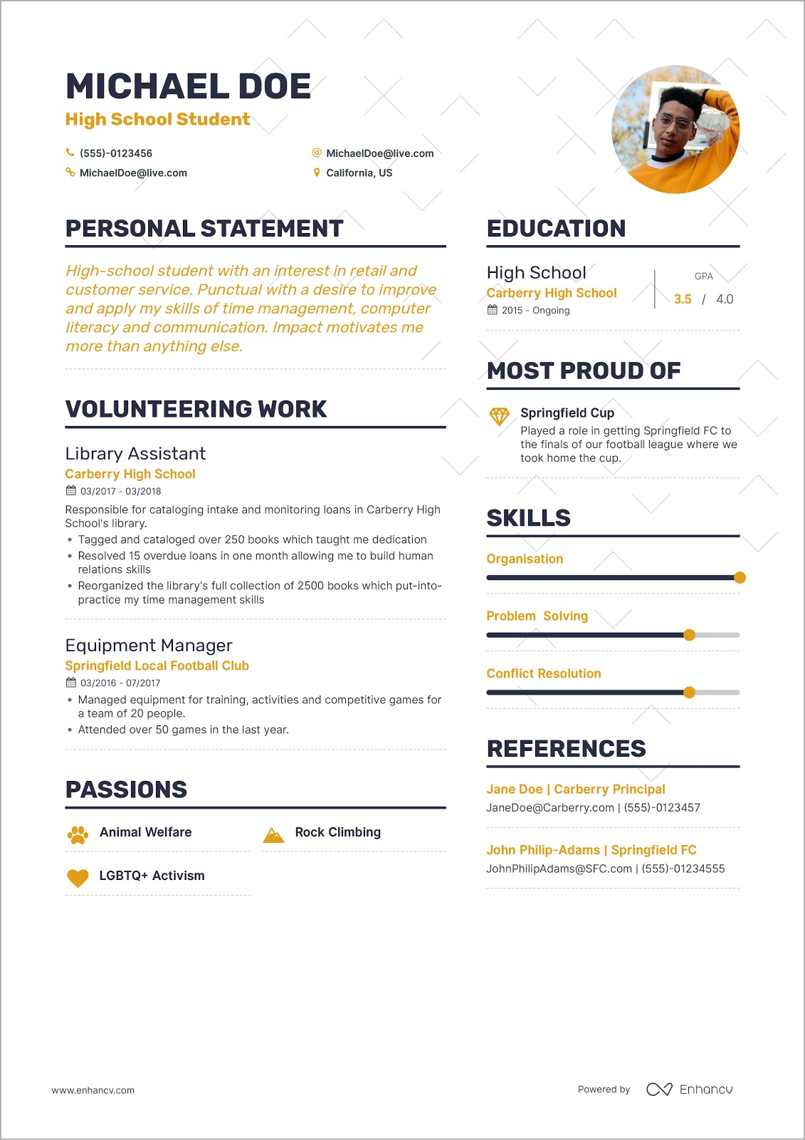 Enhancv How To Write Your First Job Resume First job resume