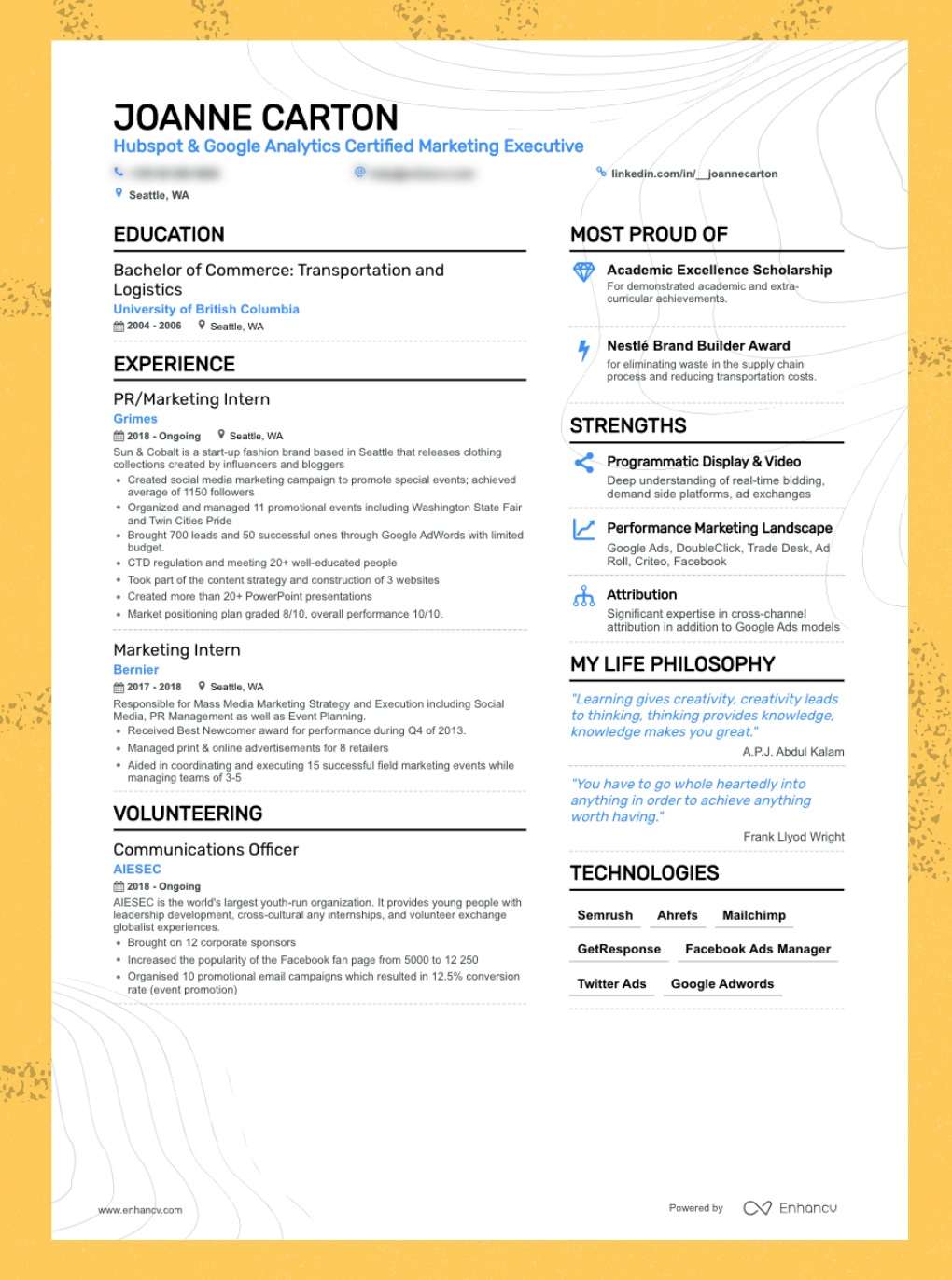 Enhancv The Best Resume Formats You Need to Consider (5+ Examples Included)