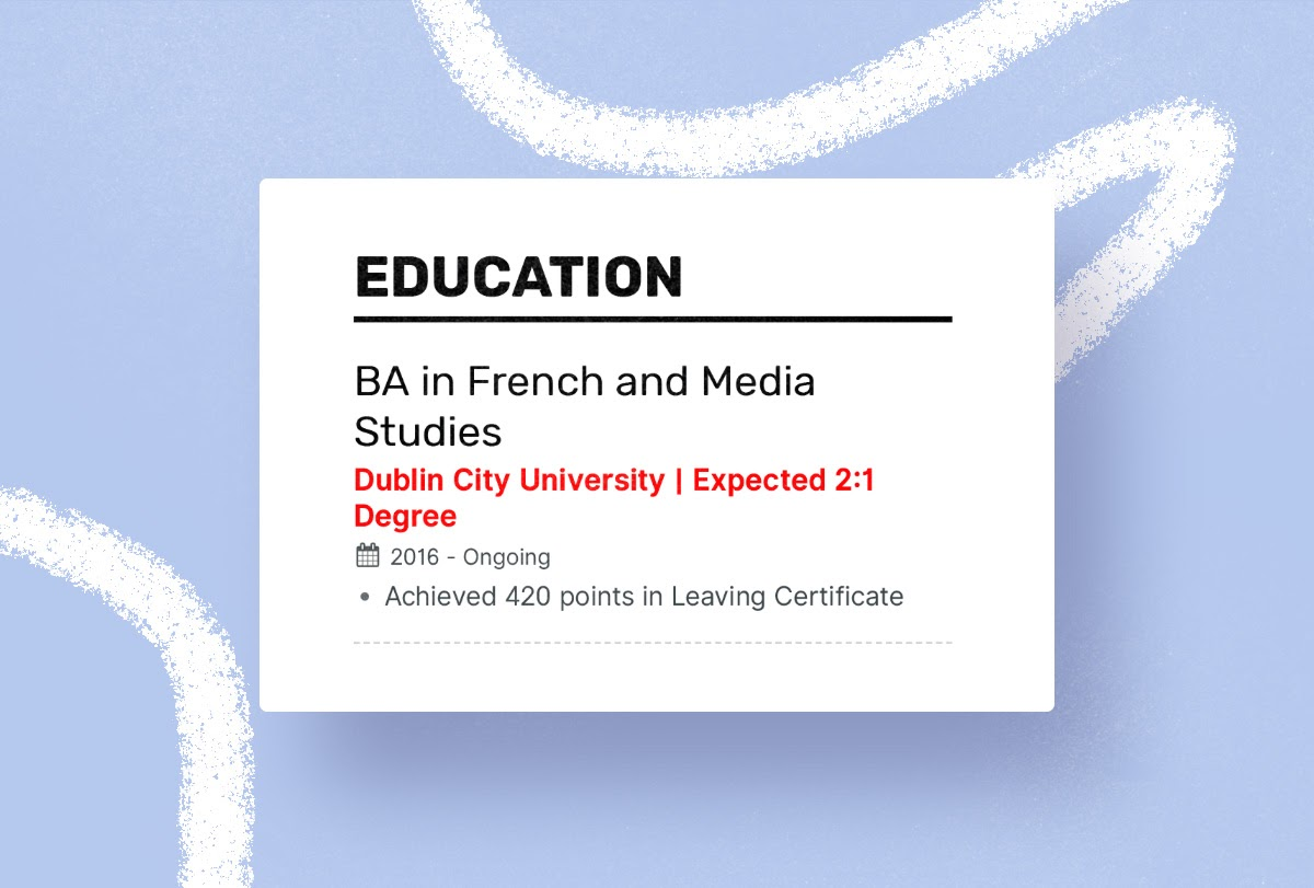 Enhancv Perfecting the Education Section on Your Resume Resume education section