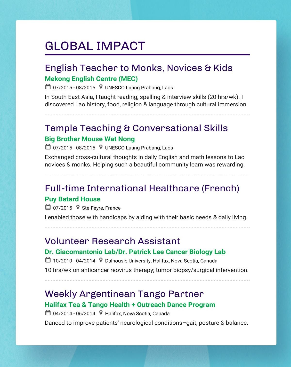 Enhancv Resume Headings To Stand Out in 2021 resume headings