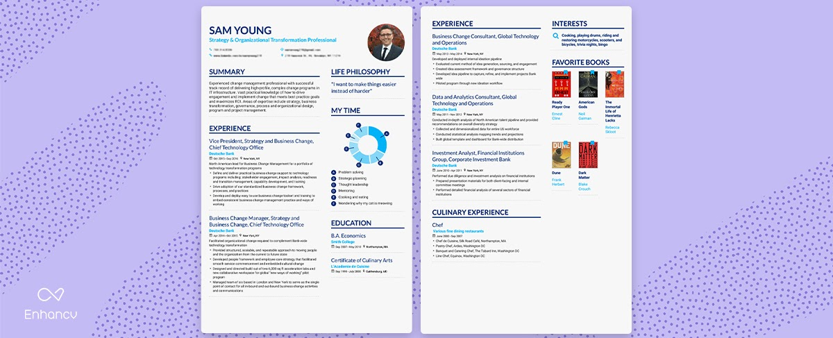 Enhancv How, When, and Why You Can Use a Two-Page Resume?