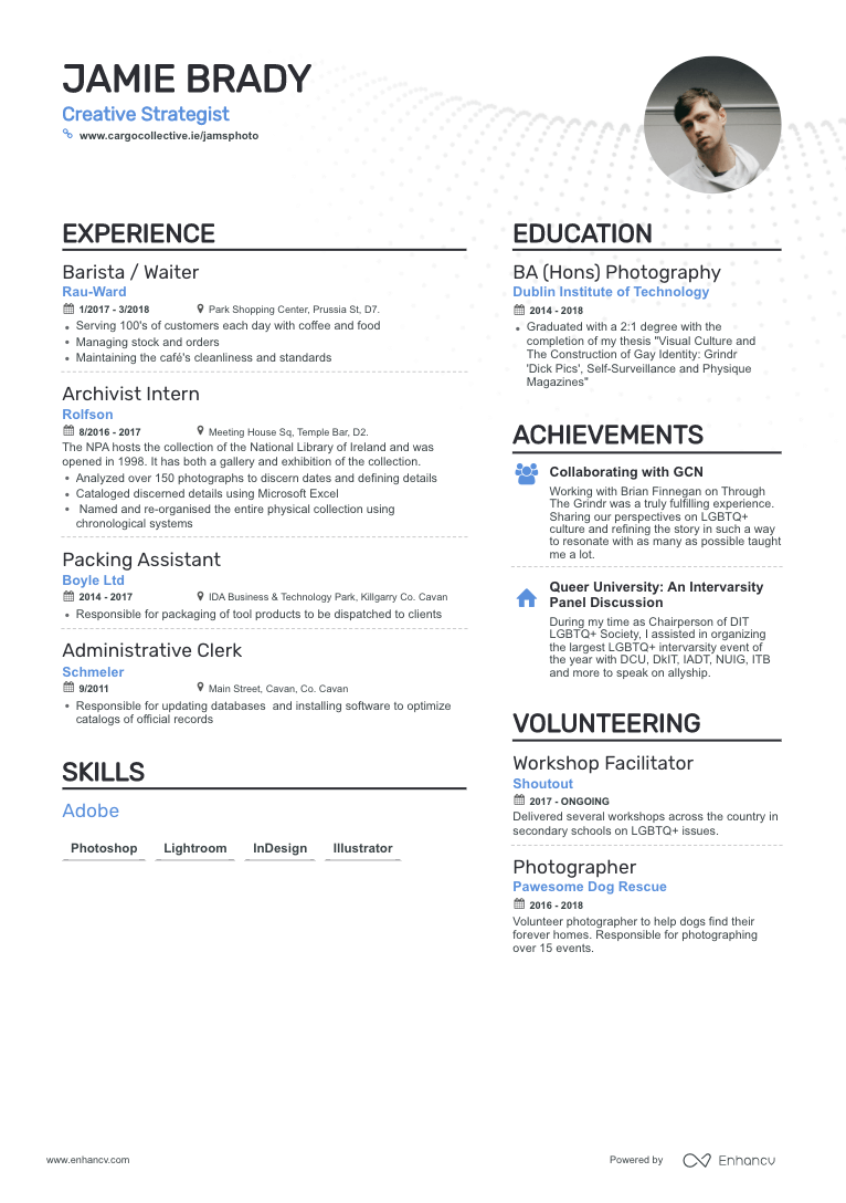 Enhancv How to Describe Your Resume Work Experience (Even If You Have None)