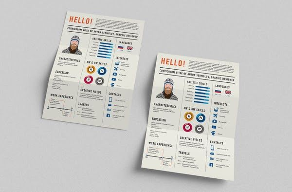 one page fold resume