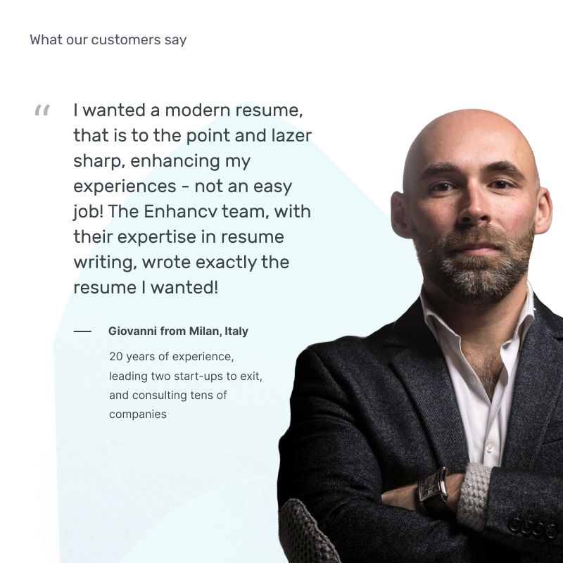 Giovanni Enhancv Career counseling user review