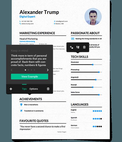 get the job you deserve enhancvmeet the modern resume enhancv helps you create