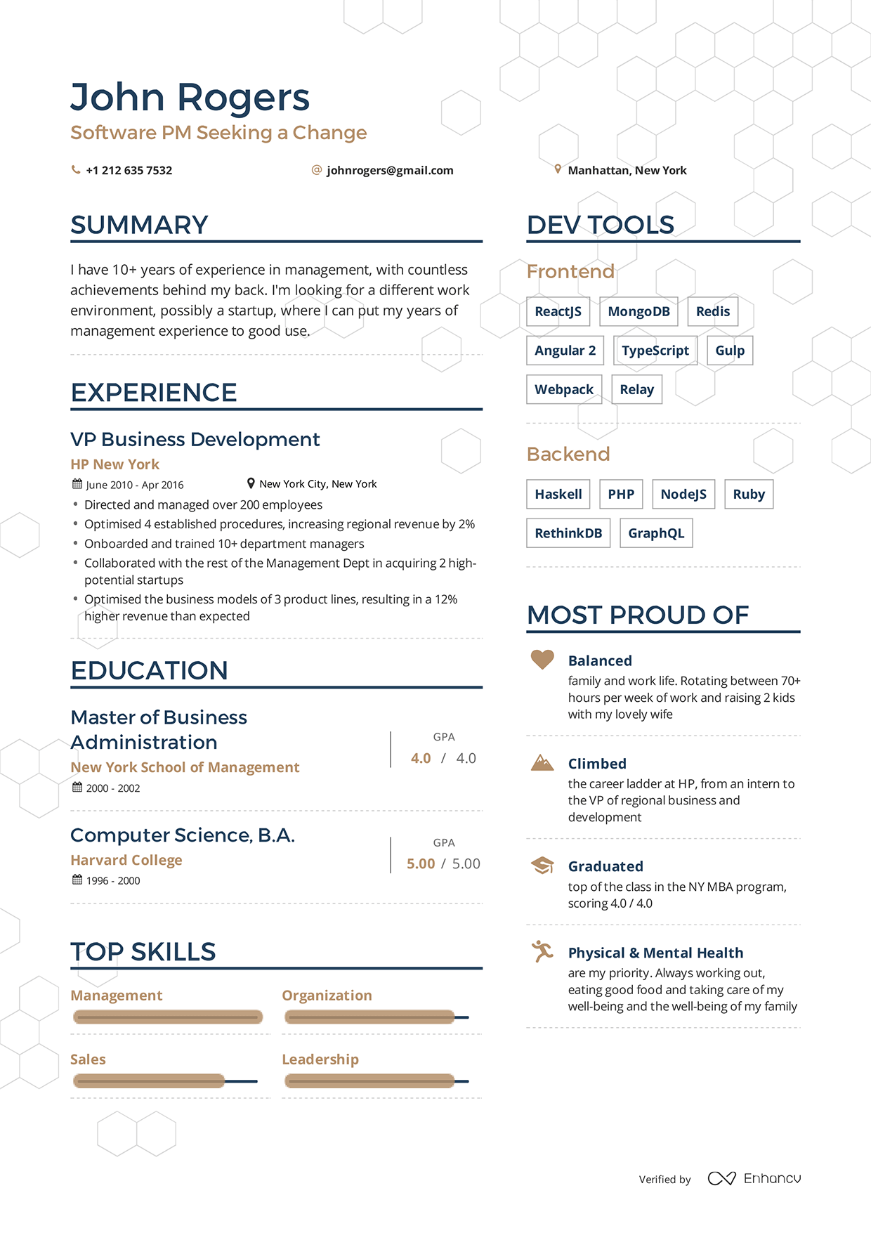 Examples resumes