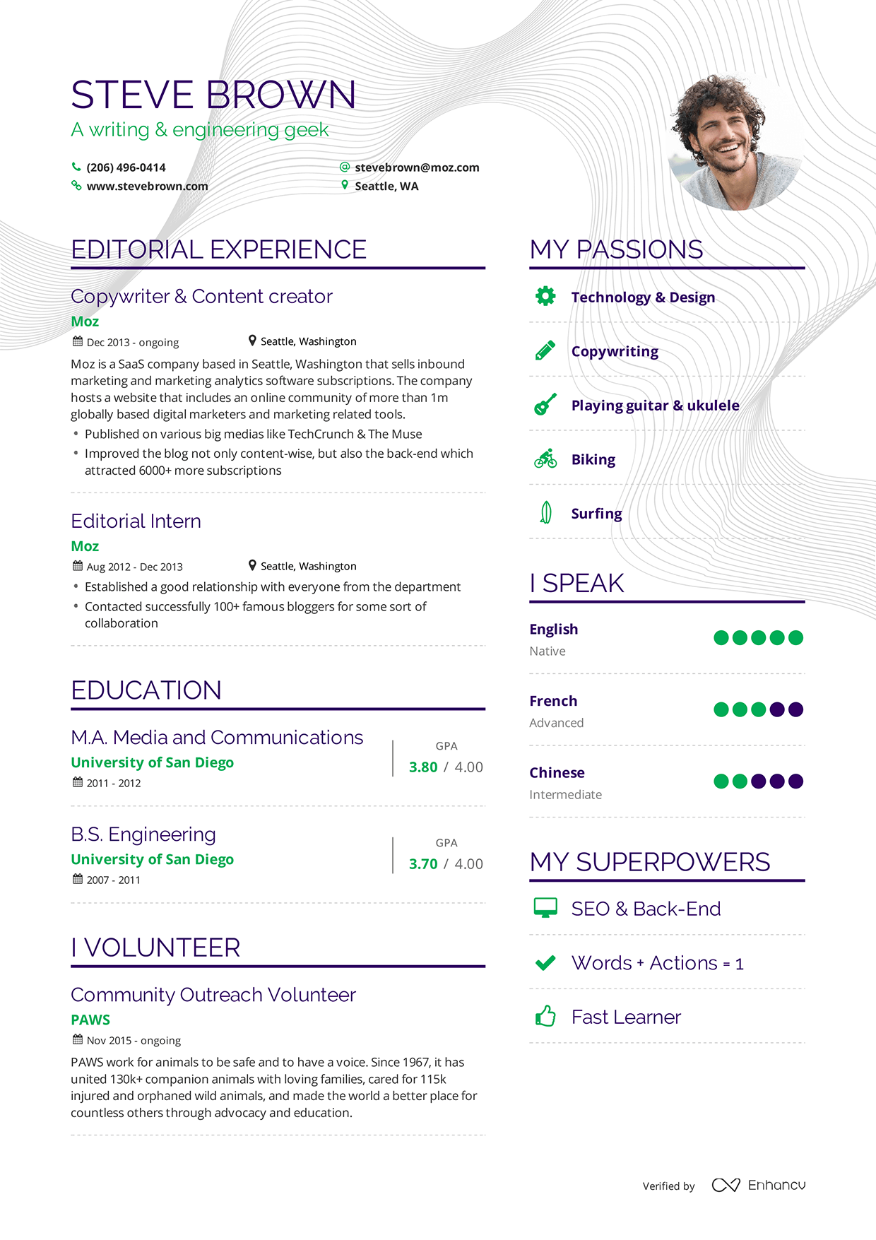 examples of resumes by enhancv john rogers resume