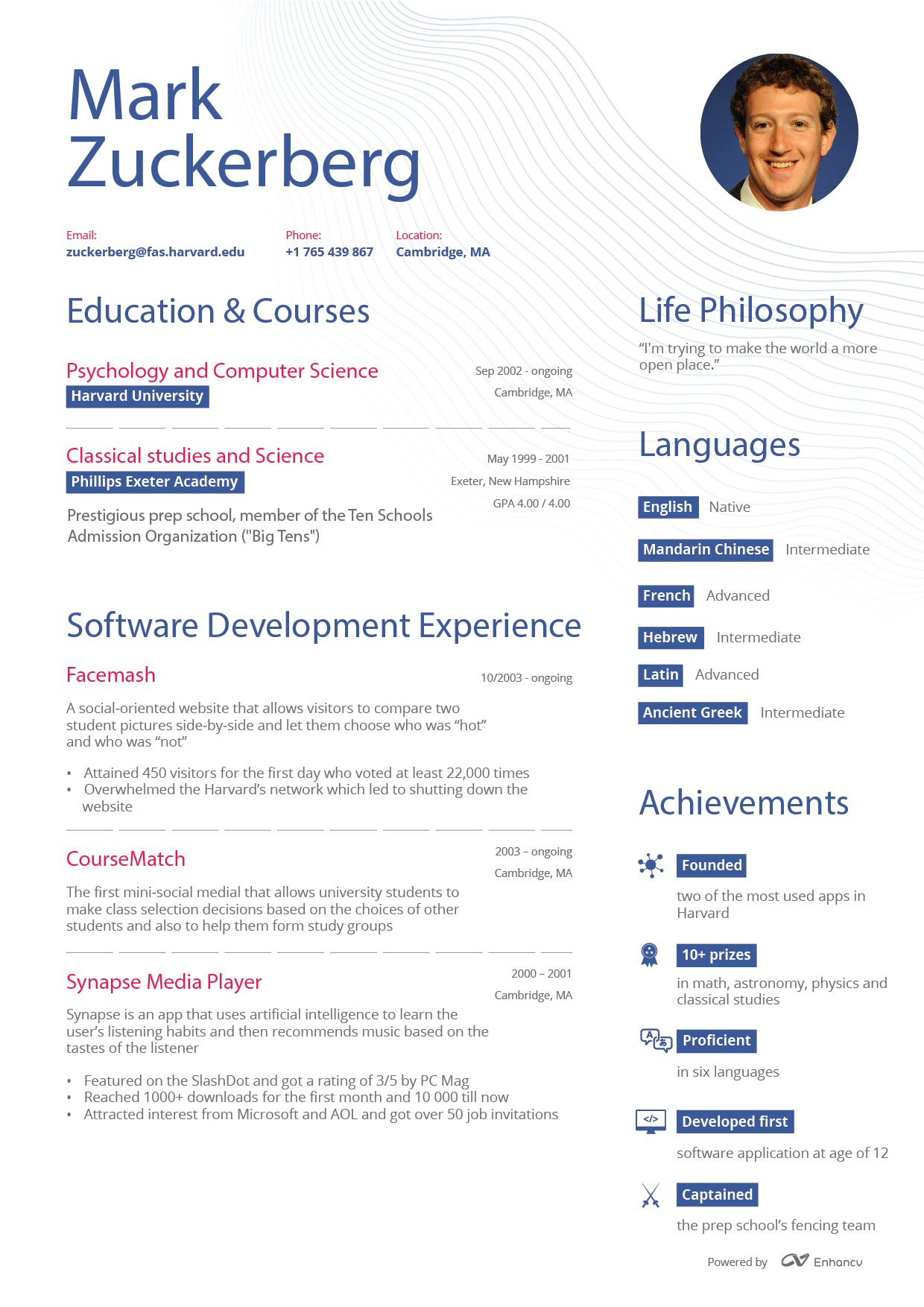 look at resumes