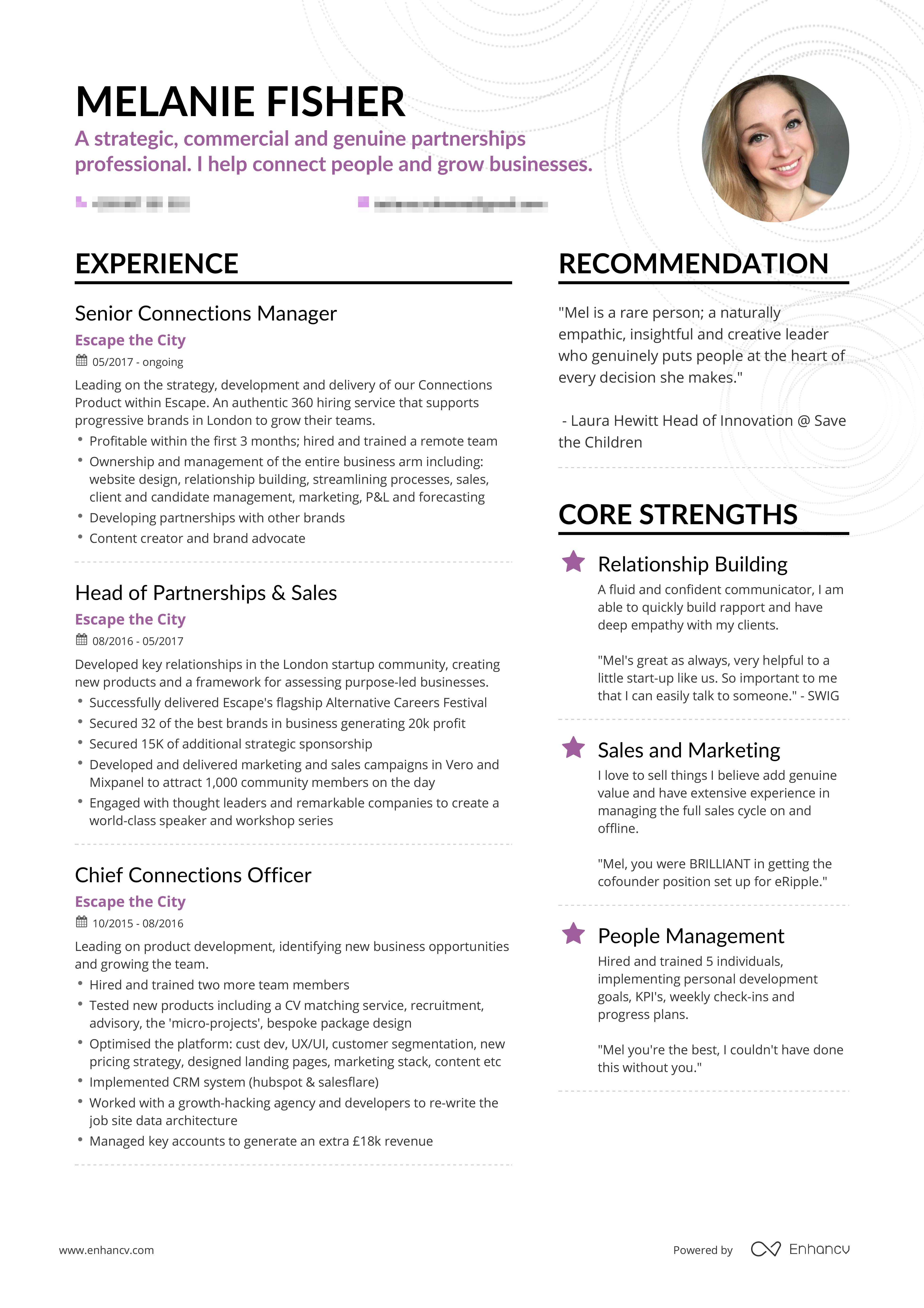 Successful Resumes Career Development Enhancv