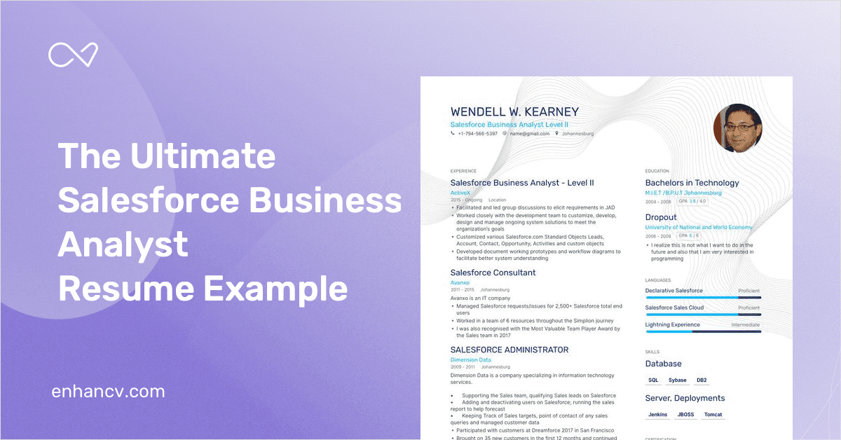 salesforce business analyst resume guide