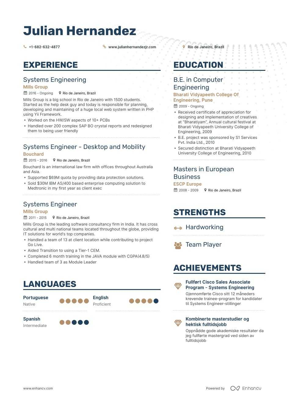 Systems Engineer Resume Examples Pro Tips Featured Enhancv