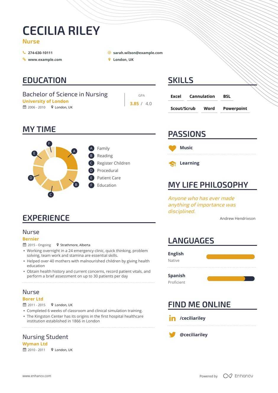 download  nurse resume example for 2020