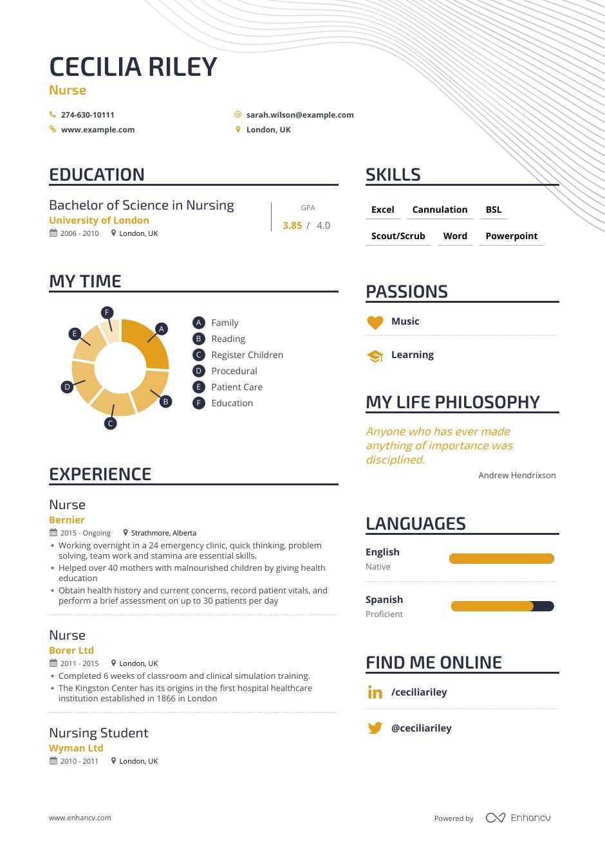 Download Nurse Resume Example For 2020 Enhancv Com