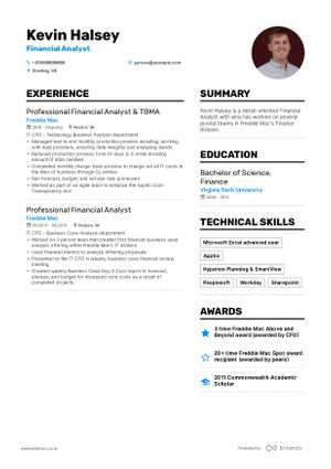 The Best 2019 Accounting And Finance Resume Example Guide