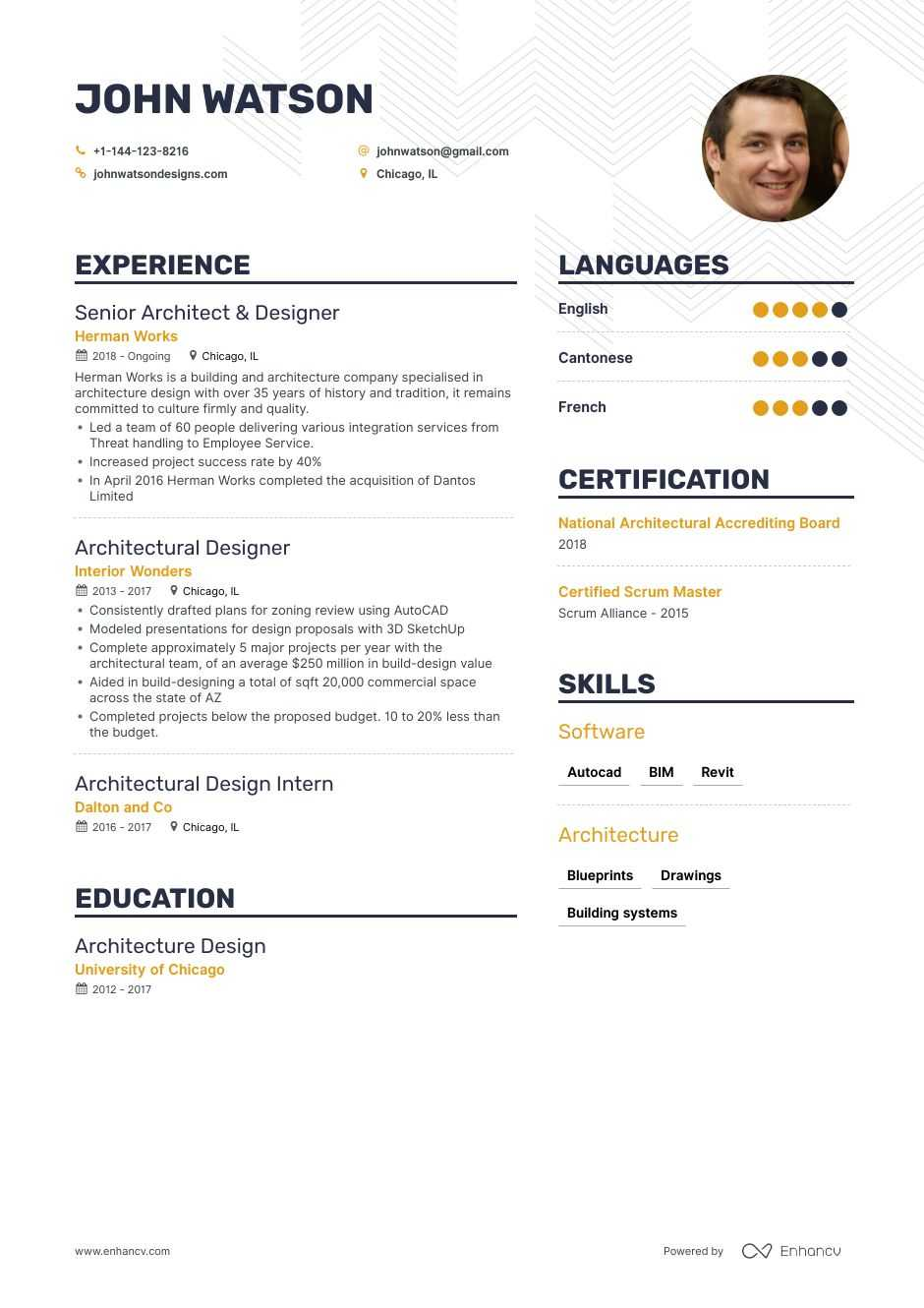The Best Architectural Designer Resume Examples Skills To Get You Hired