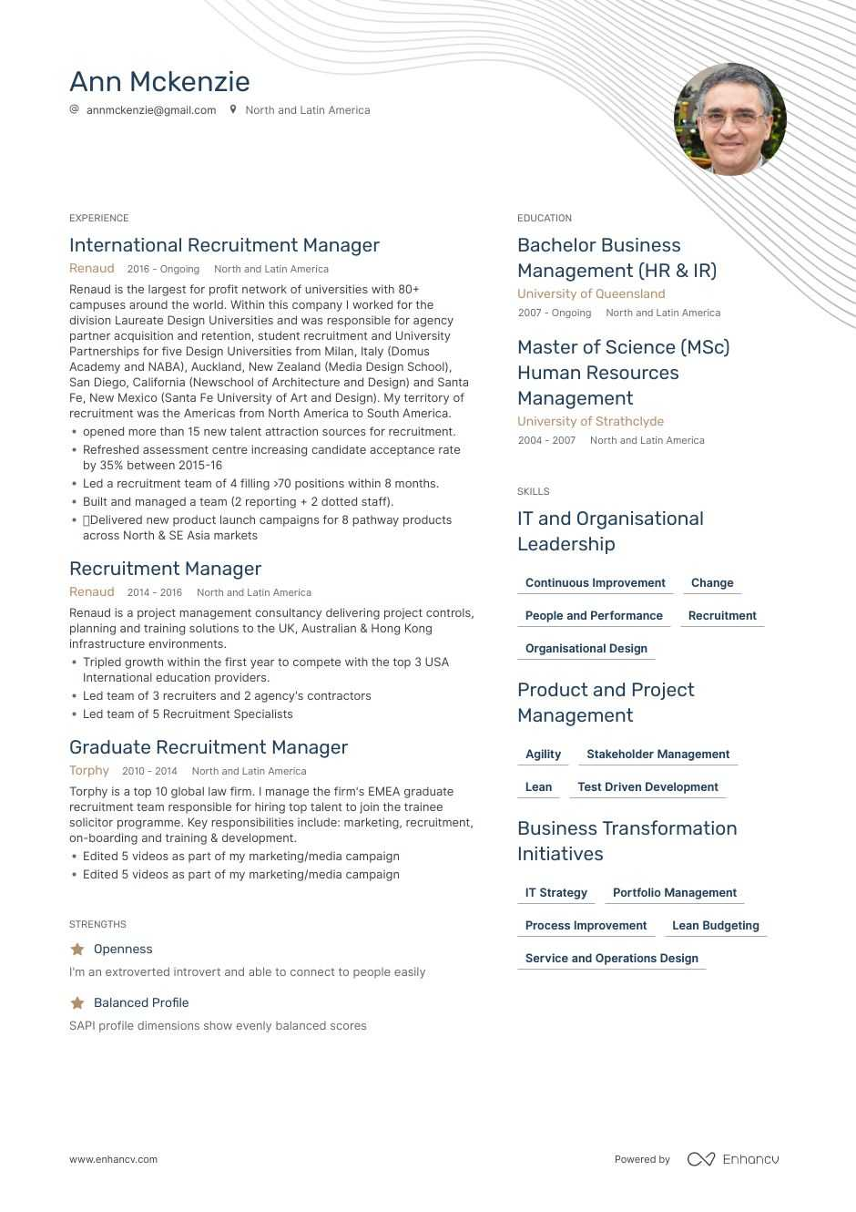 download  recruitment manager resume example for 2020