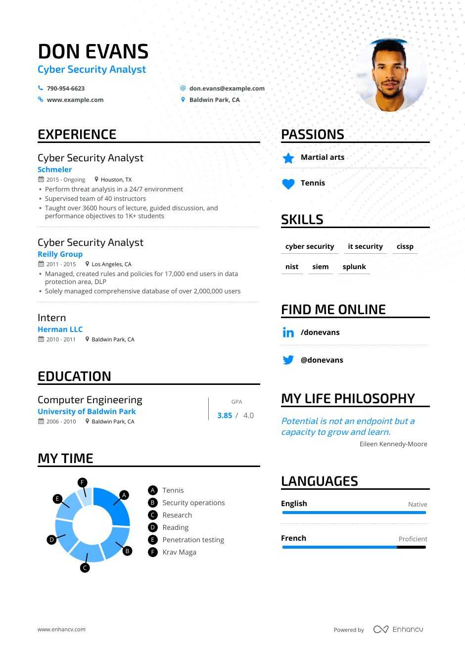 cyber security analyst resume examples guide  u0026 pro tips