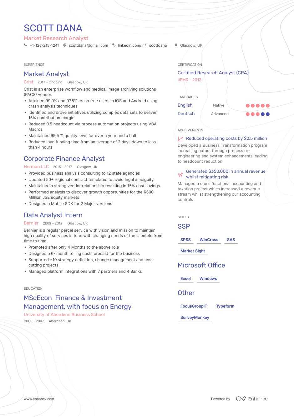 top market research resume examples  u0026 samples for 2020