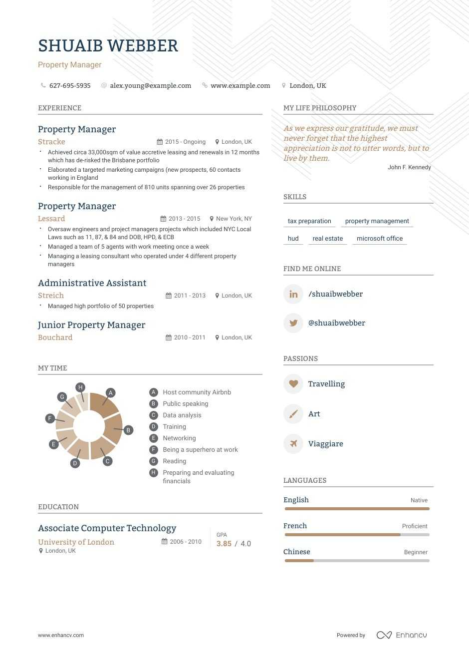 best property manager resume examples with objectives  skills  u0026 templates