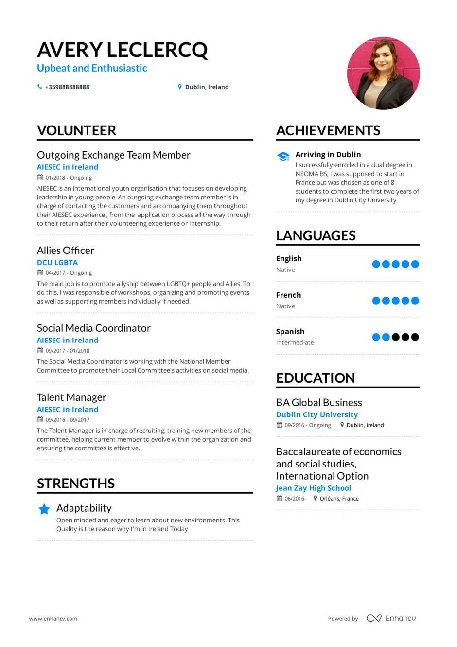 Volunteer Resume Example And Guide For 2019