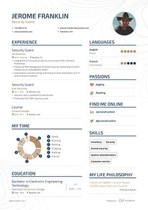 Jerome Franklin resume preview