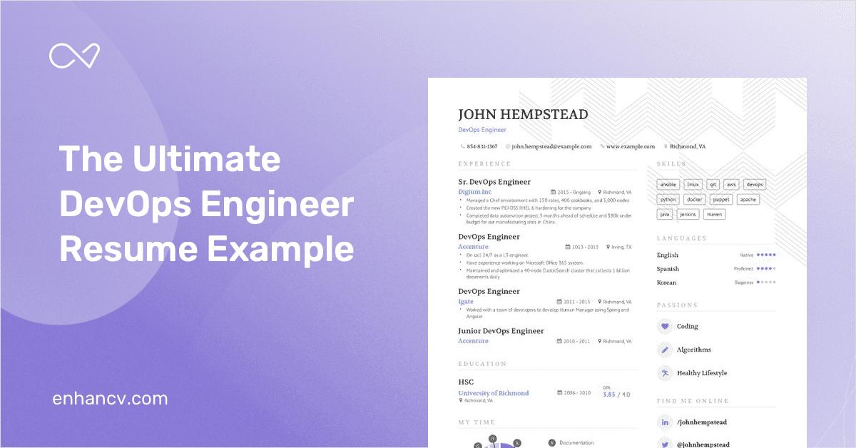 DevOps Engineer Resume Example