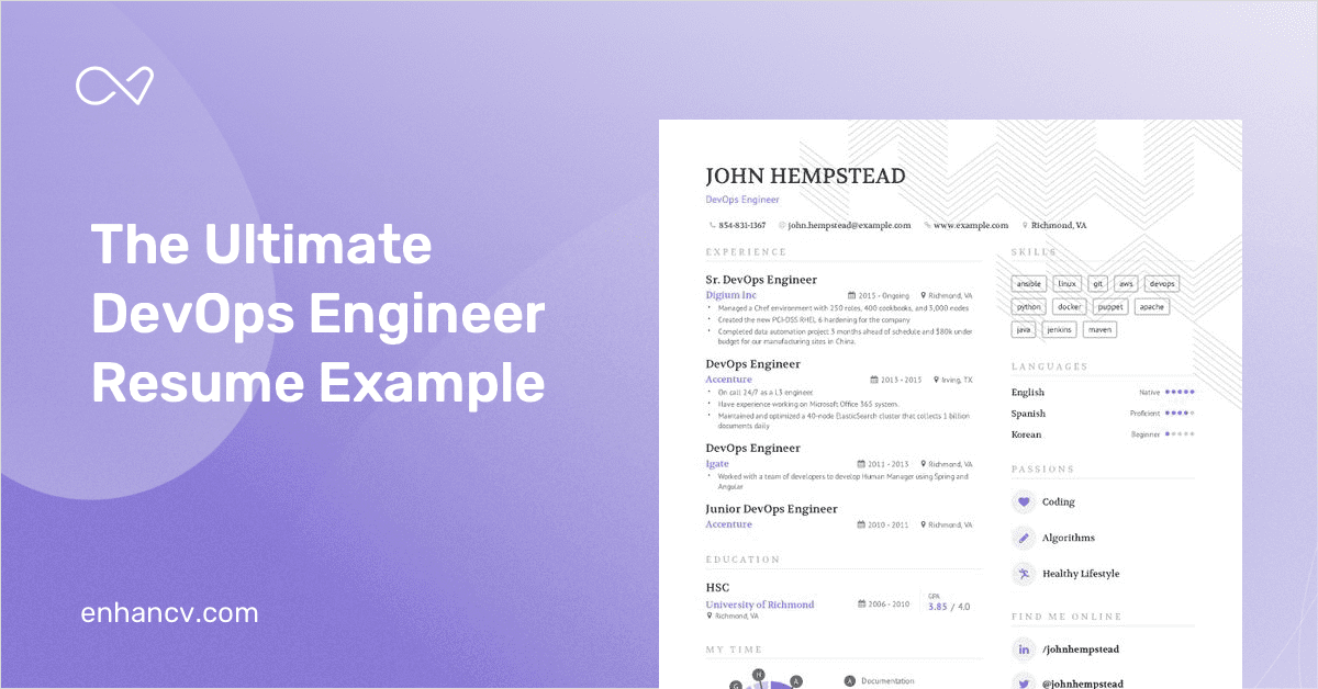 devops engineer resume example and guide for 2019