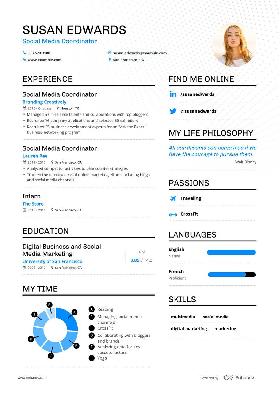 Digital Media Resume.Social Media Coordinator Resume Example And Guide For 2019