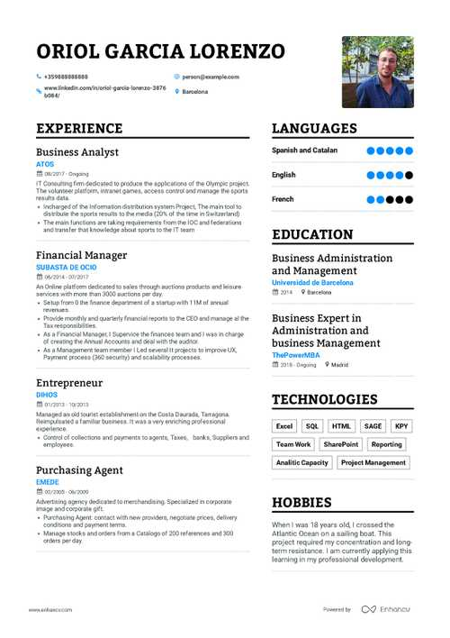 Business Analyst Resume Example And Guide For 2019