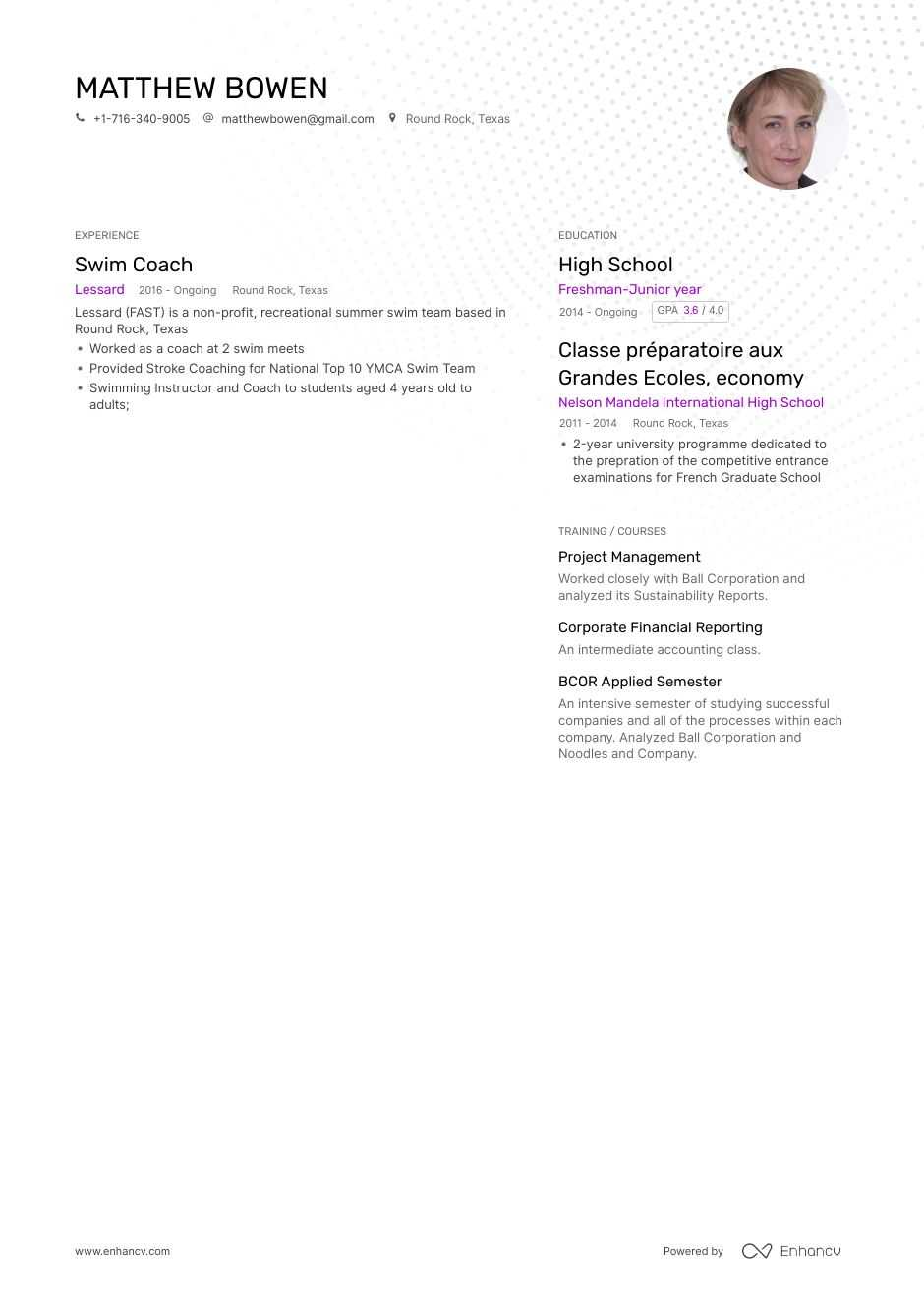 Top Swim Coach Resume Examples Amp Samples For 2020
