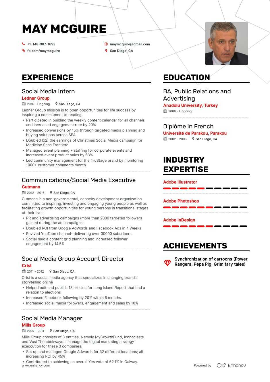social media resume example and guide for 2020