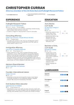 Chris Curran resume preview