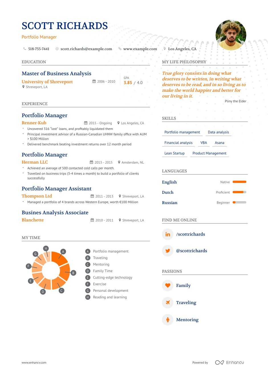 portfolio manager resume example and guide for 2020