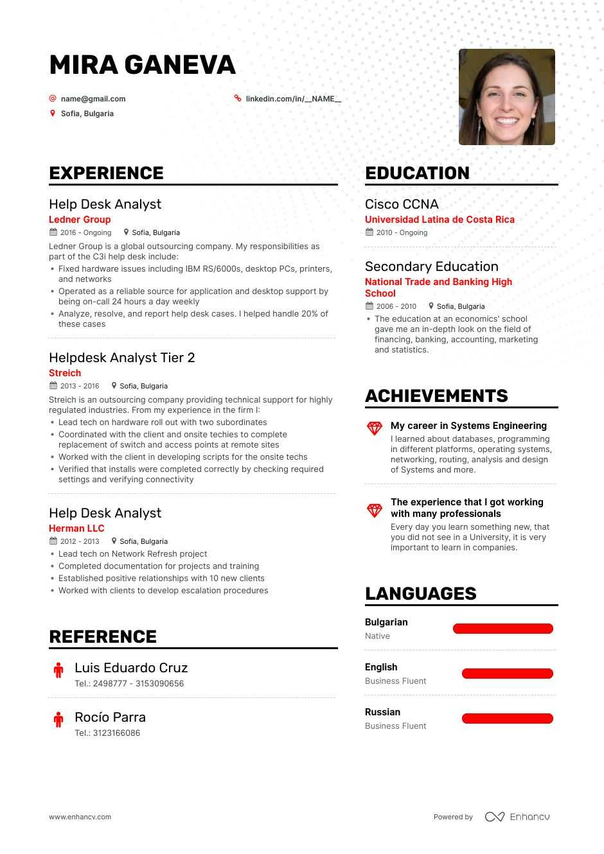 Help Desk Analyst Resume Examples Guide Pro Tips Enhancv