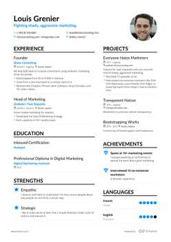 Louis's resume preview