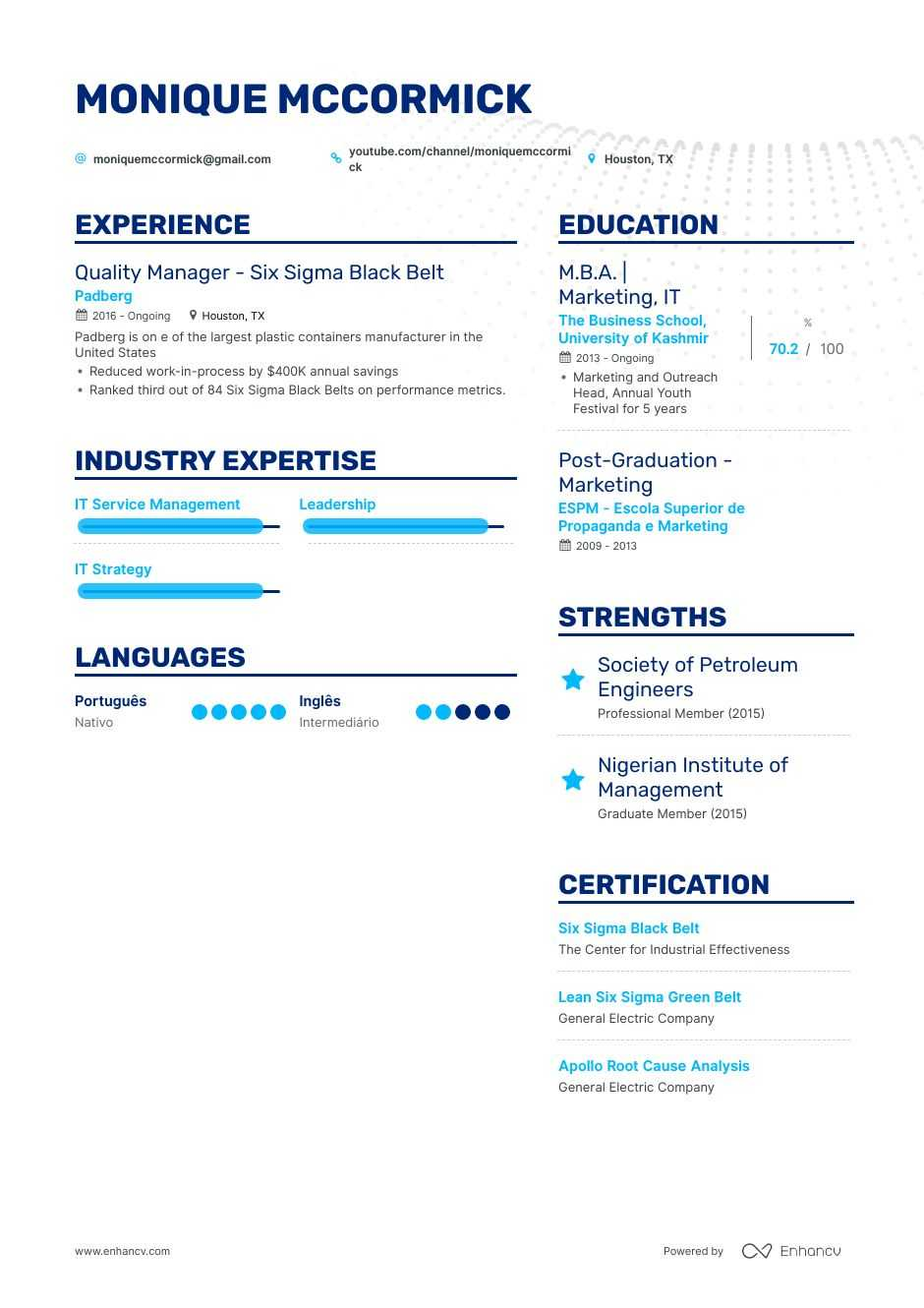 six sigma resume example and guide for 2020