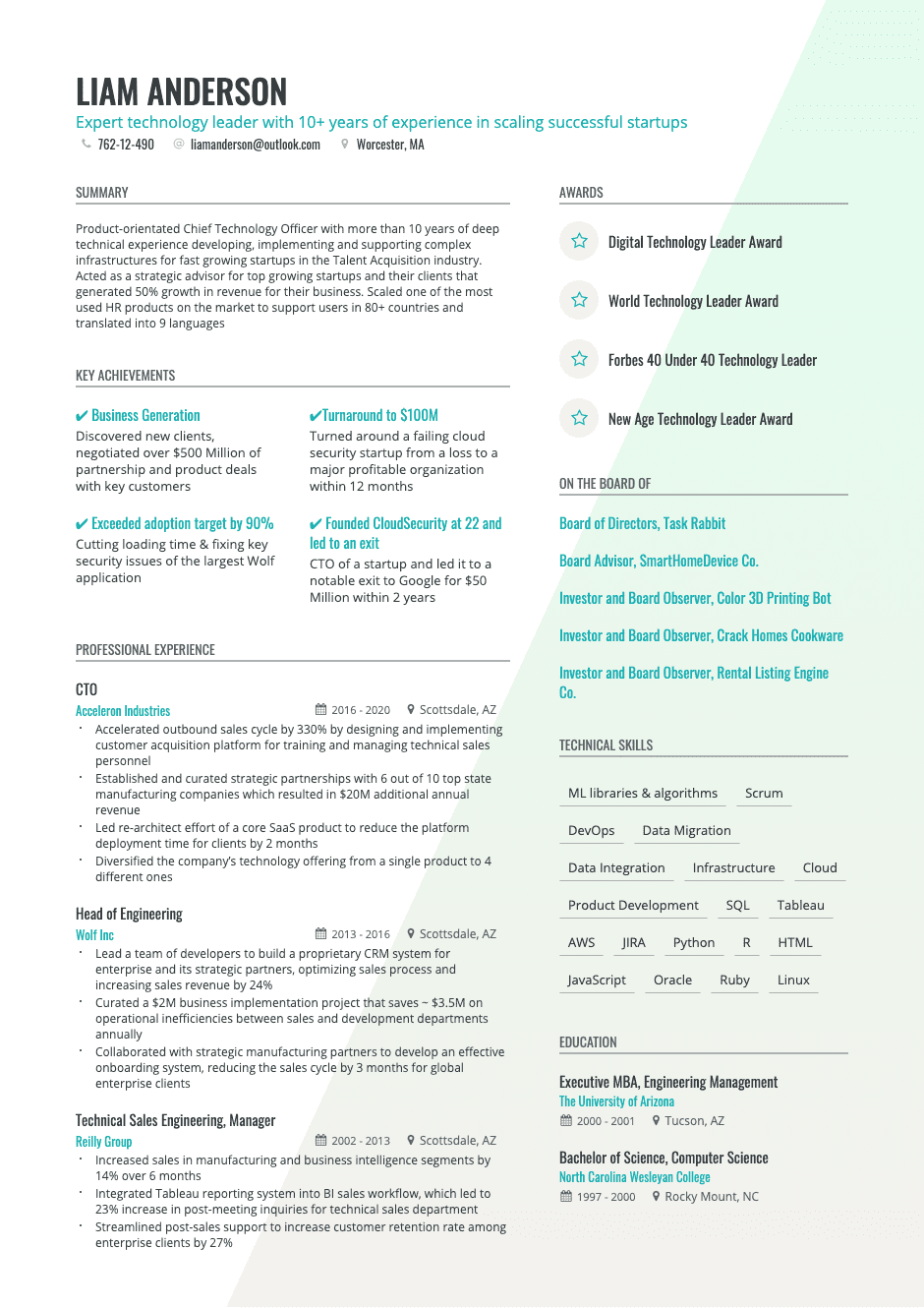 page 19  free two column resume templates  two column
