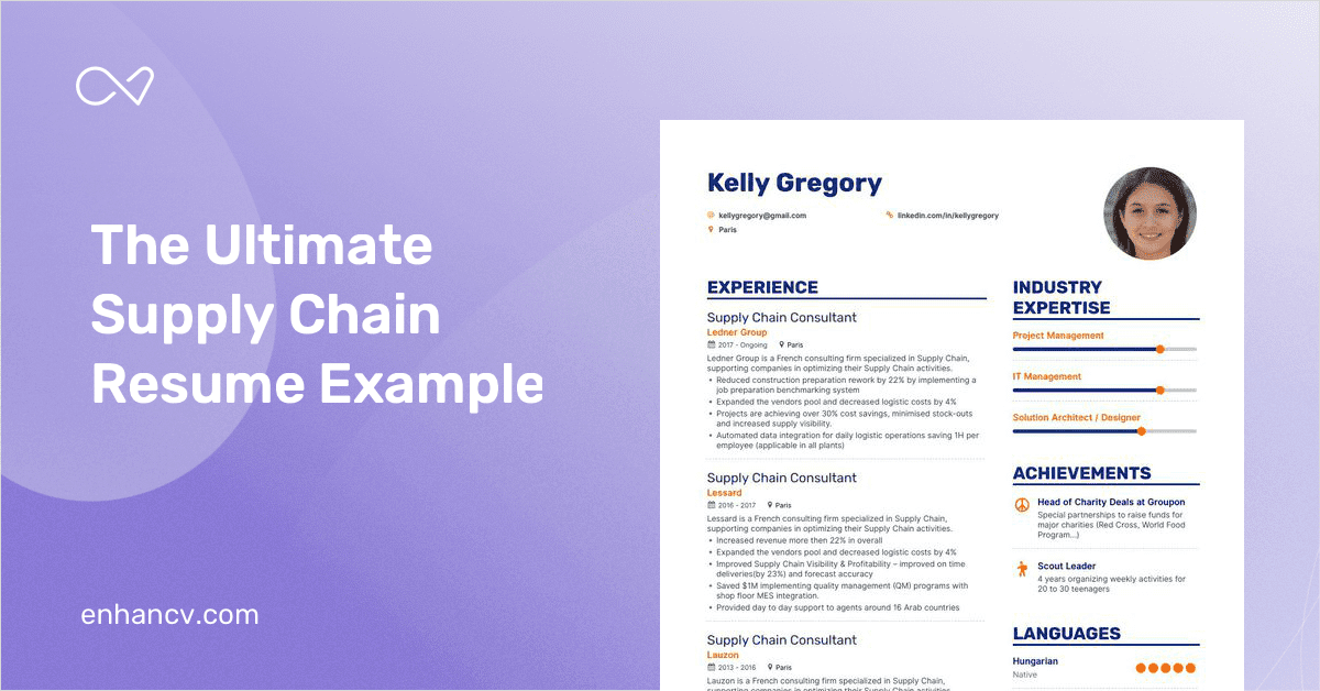supply chain resume example and guide for 2019