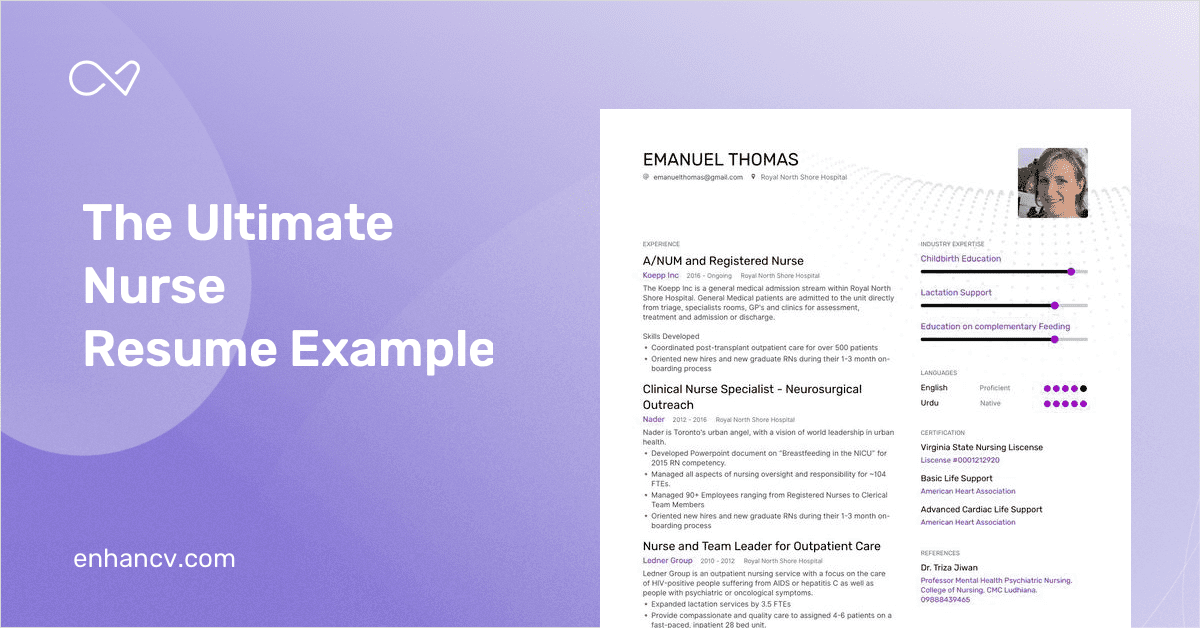 The Ultimate Guide To Nursing Resume Examples In 2020