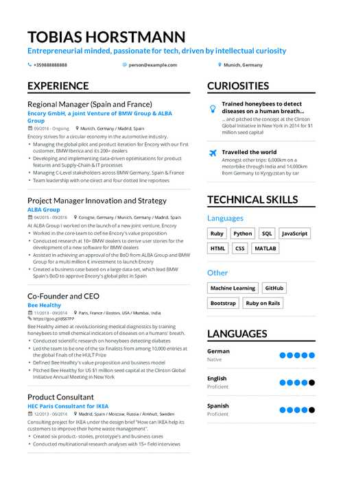 Project Manager Resume 2019