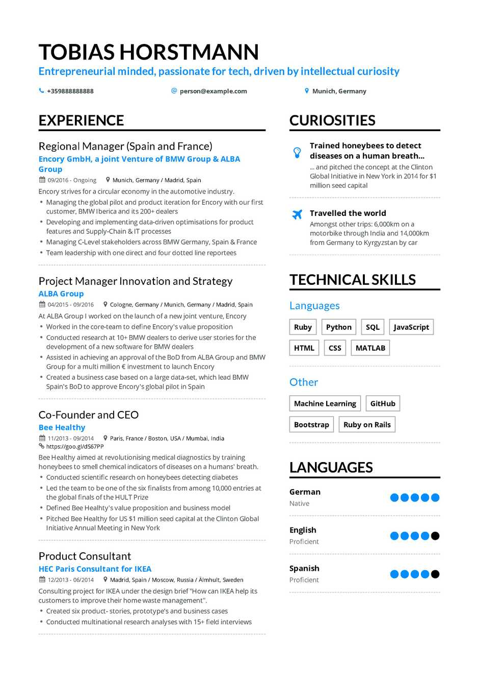 Project Manager Resume Example And Guide For 2019
