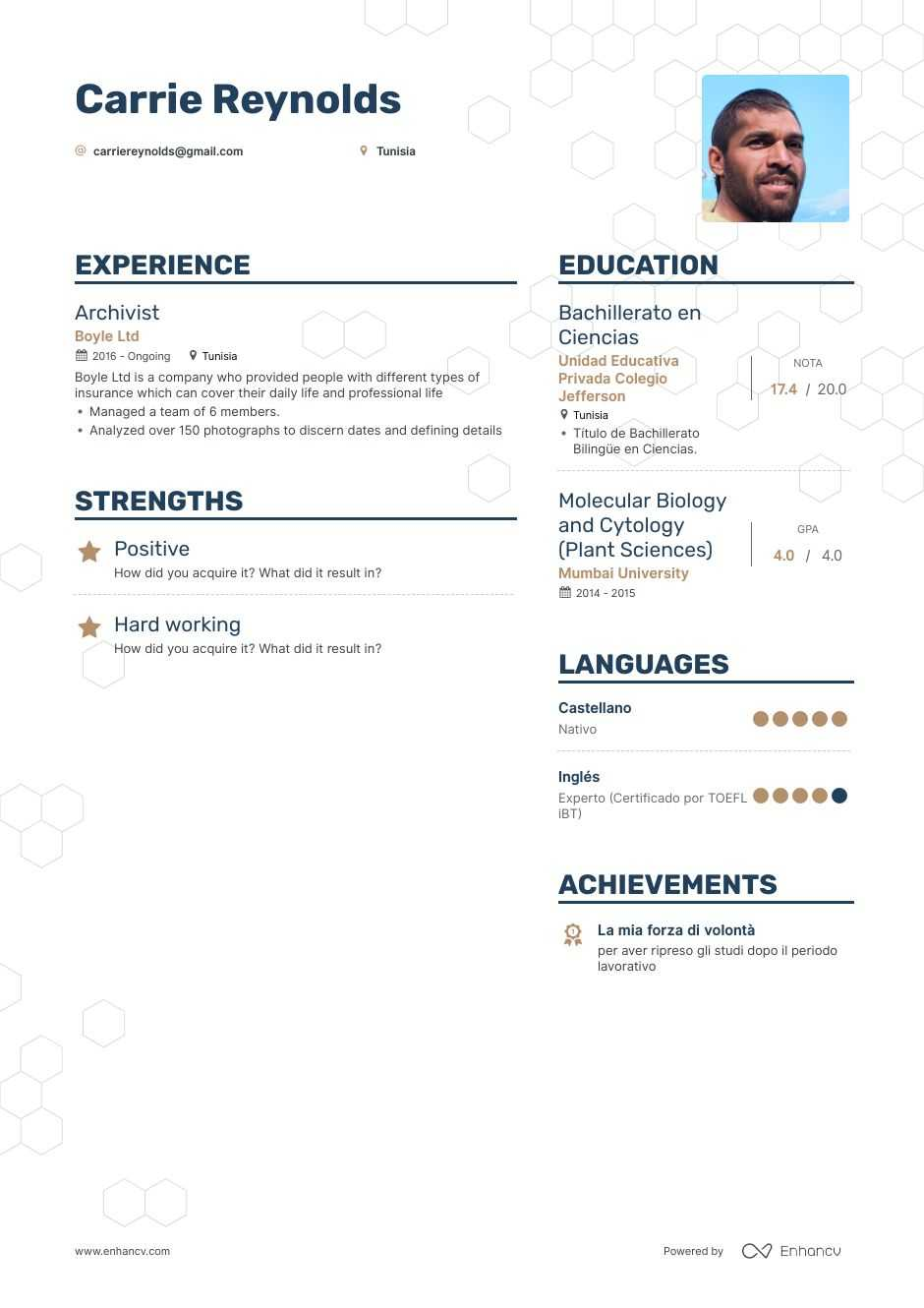 archivist resume example