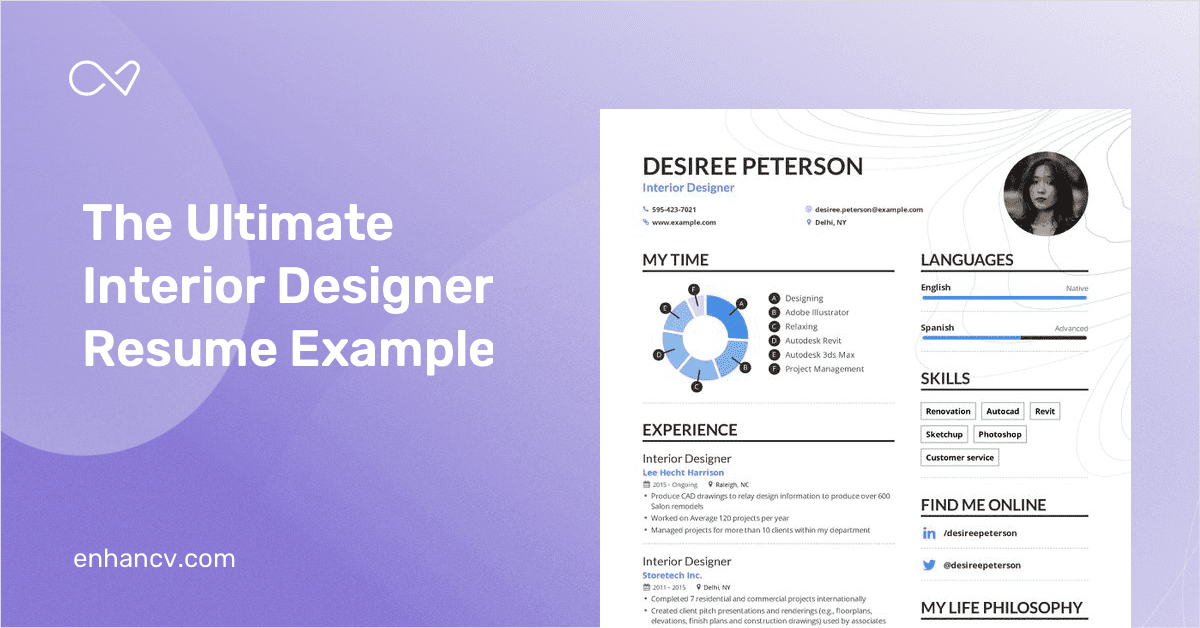 Interior Designer Resume Example And Guide For 2019