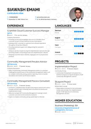 Siawash Emami resume preview
