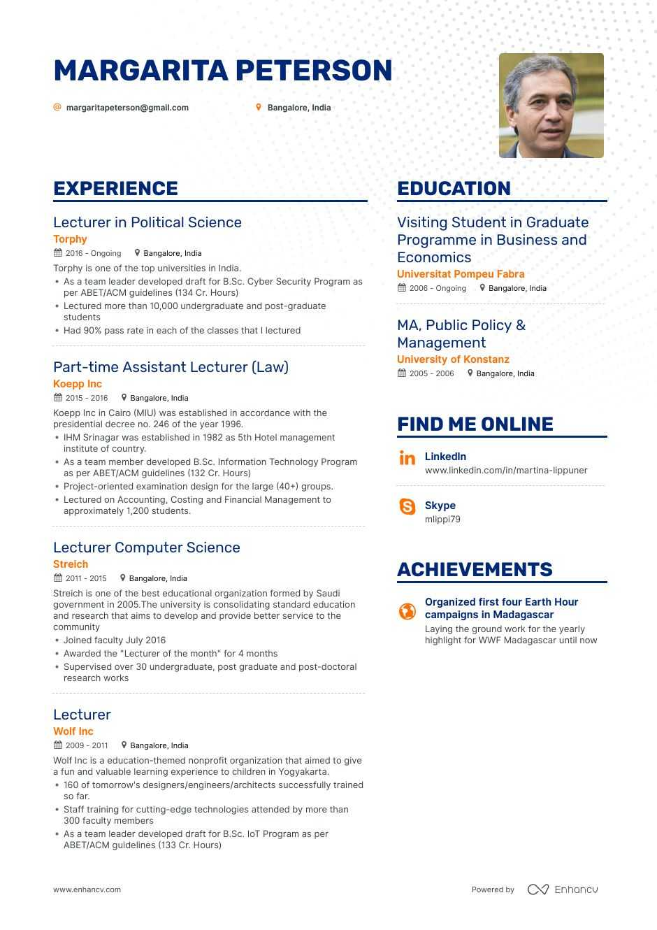 Lecturer Resume Example And Guide For 2019