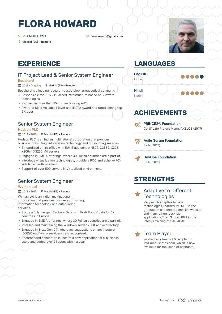 senior system engineer resume example