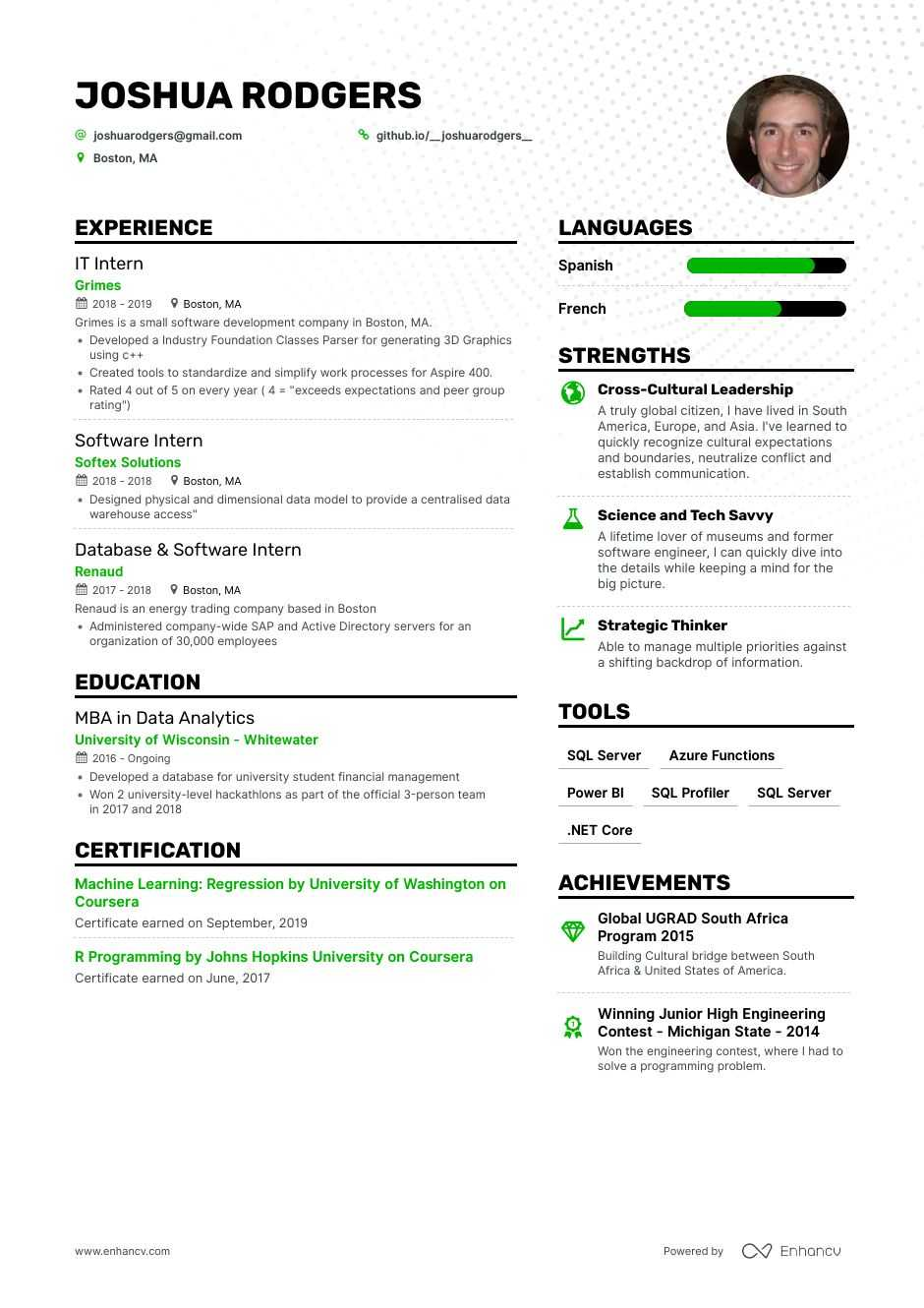 Job Winning Computer Science Resume Examples Samples